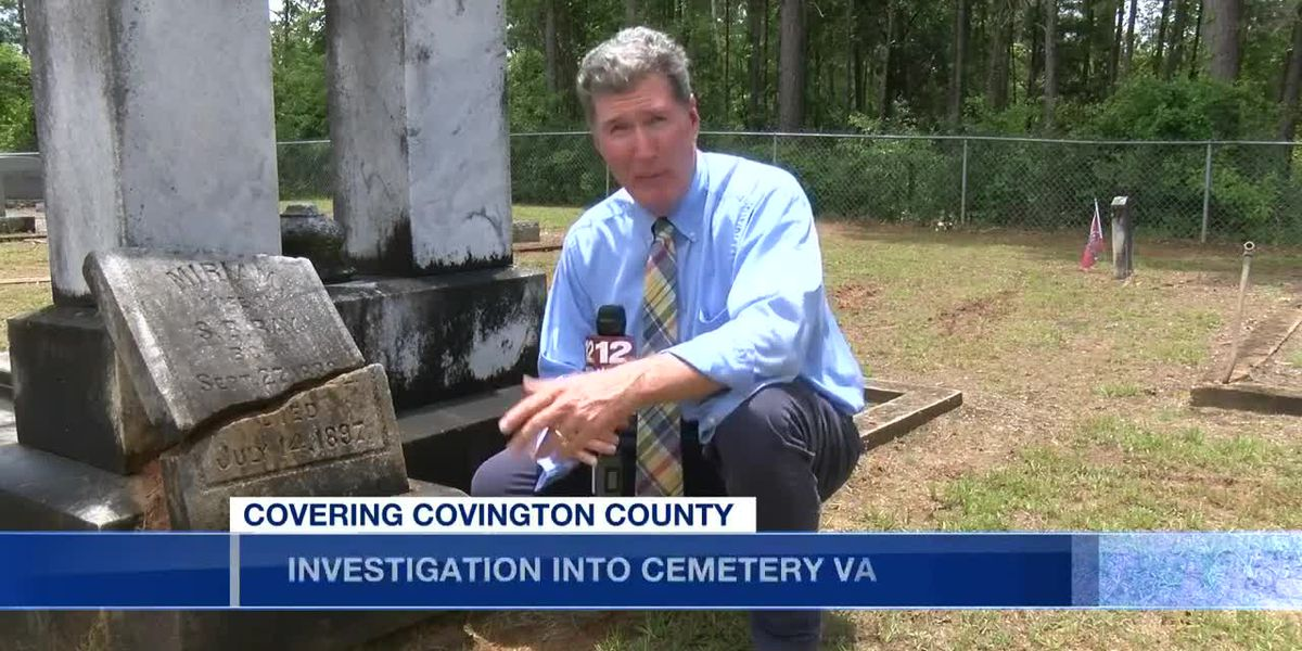 Cemetery vandalized in Covington County