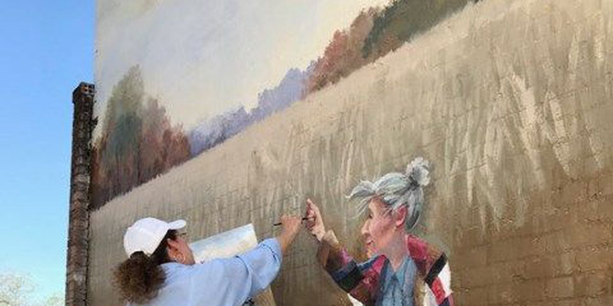 Giant mural going up in downtown Monroeville