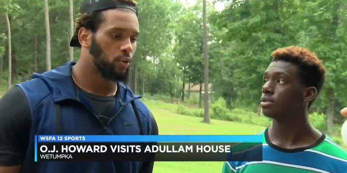 OJ Howard visits Adullam House