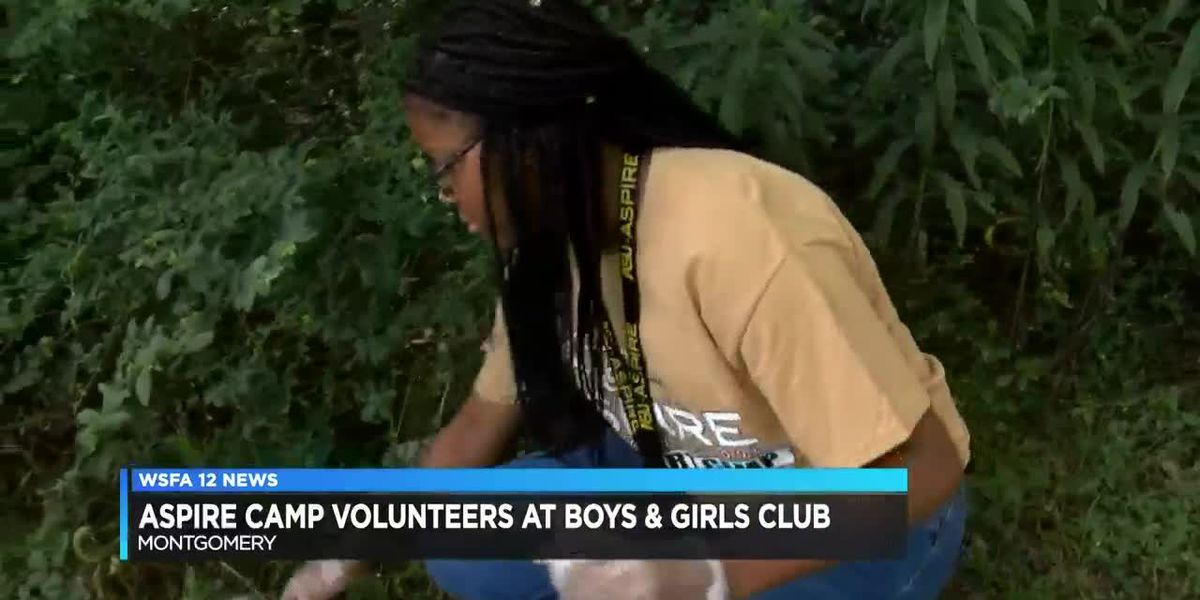 Aspire Camp volunteers at Boys & Girls Club