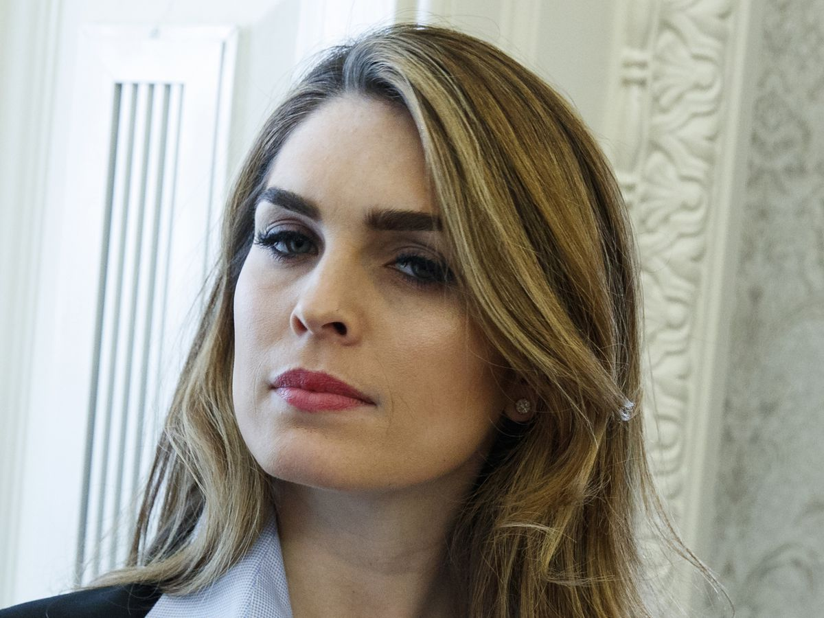 Hicks rebuffs questions on Trump White House in interview