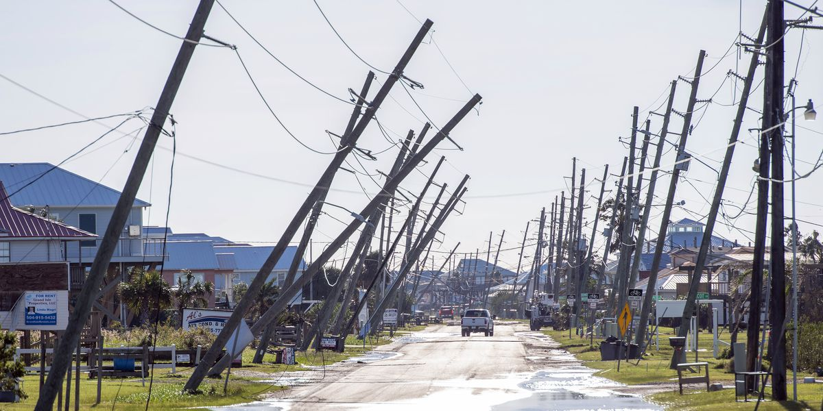 Gulf storm damage causes polling place moves, power outages