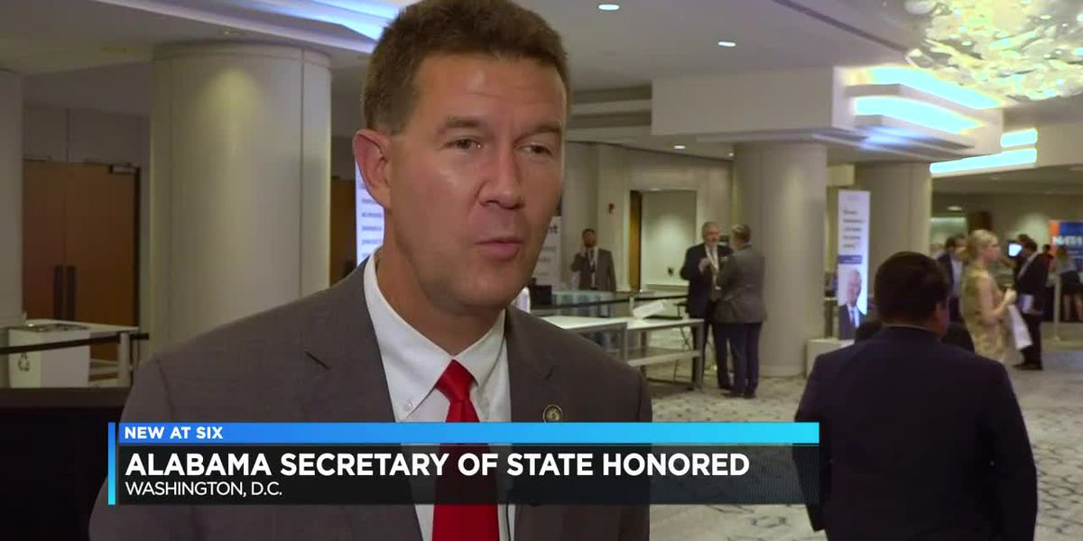 Ala. secretary of state honored in D.C.