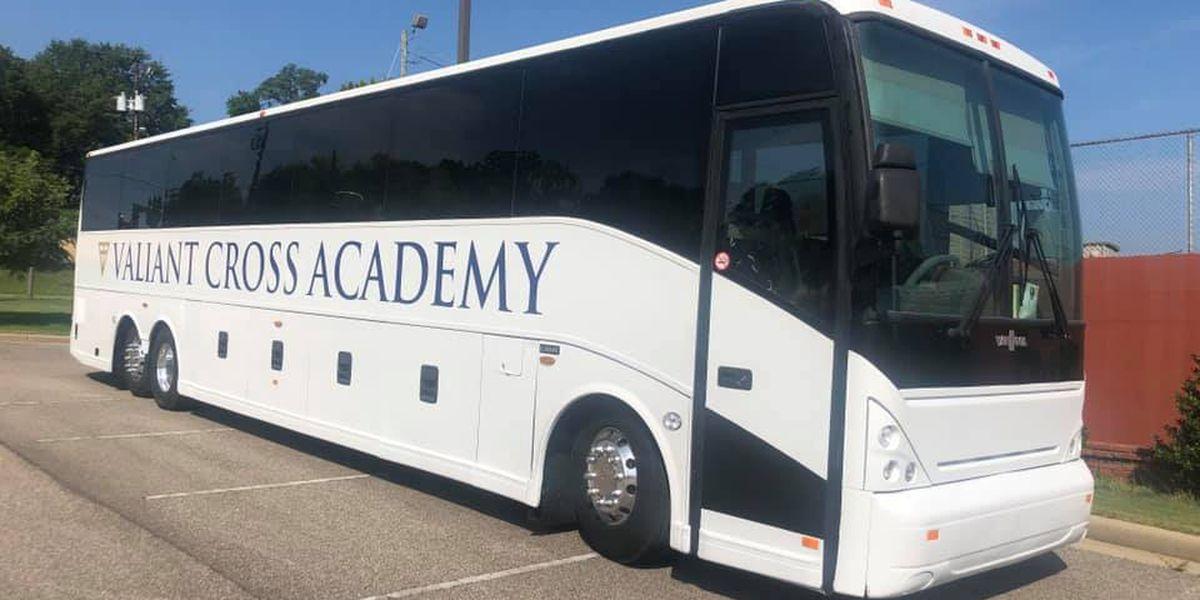 Valiant Cross Academy takes keys to first school bus