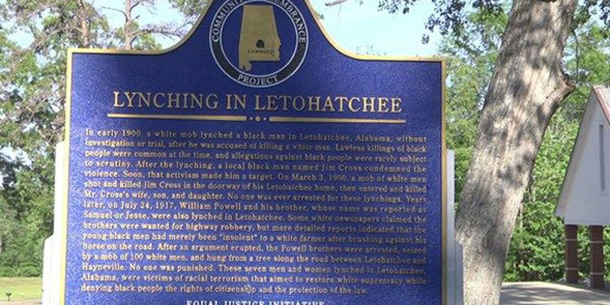 Lynching victims honored with historical marker in Lowndes County
