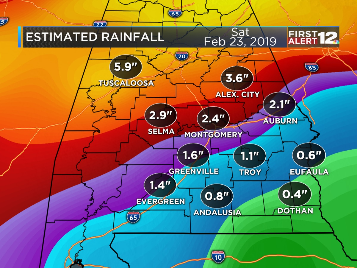 First Alert: Scattered showers tonight, widespread rain arrives Tuesday