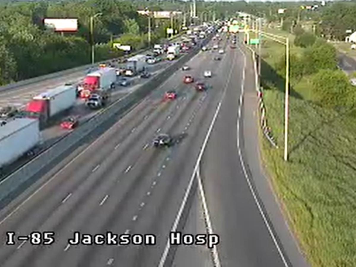 I-85 near Jackson Hospital clear following 5-vehicle crash