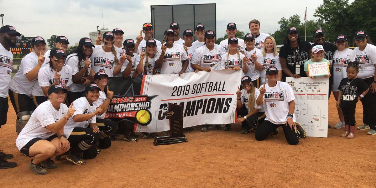 Alabama State wins first SWAC softball championship since 2016