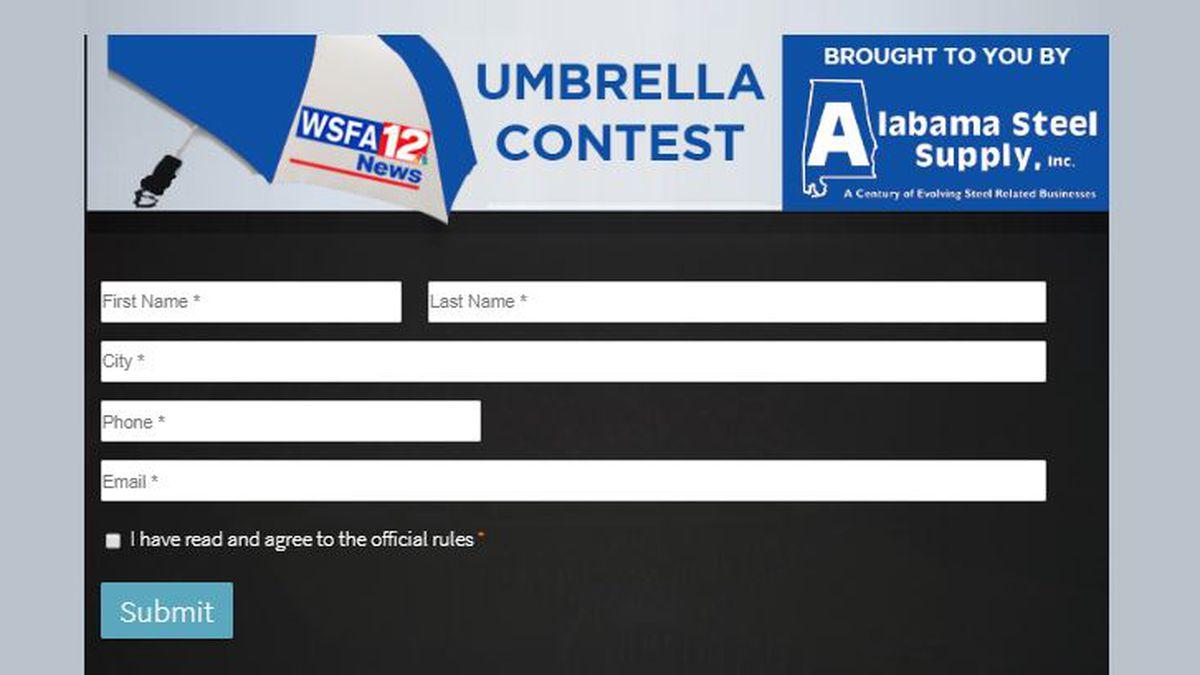 WSFA 12 News and Alabama Steel Supply Umbrella Giveaway