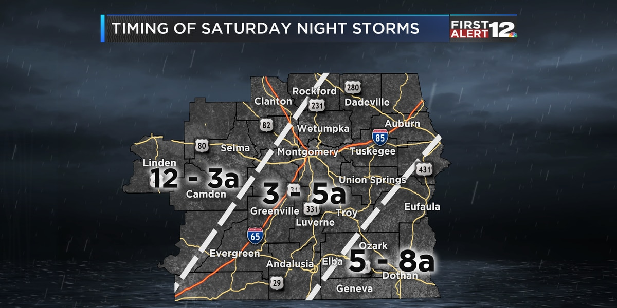 Storms to exit state by Sunday morning