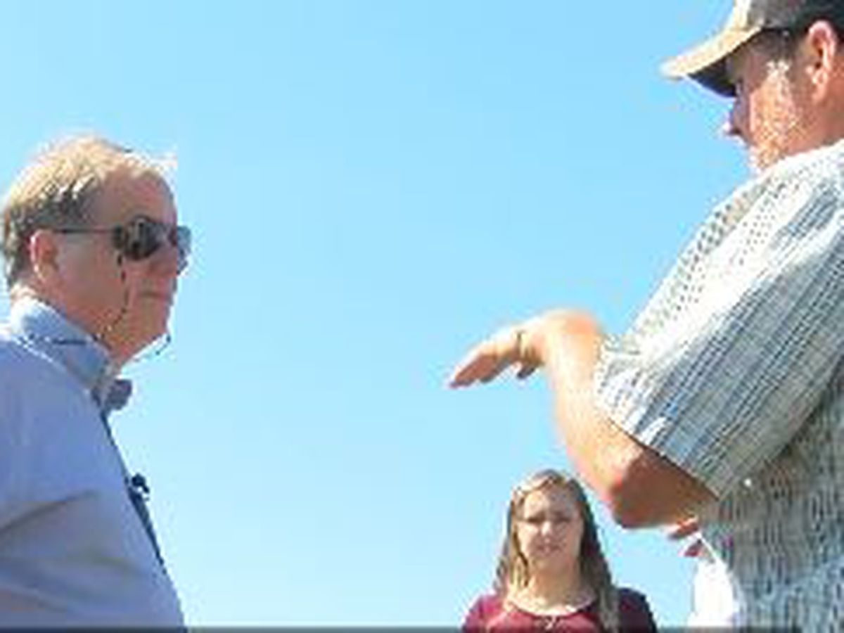 Senator Doug Jones tours AL agriculture damage from Hurricane Michael