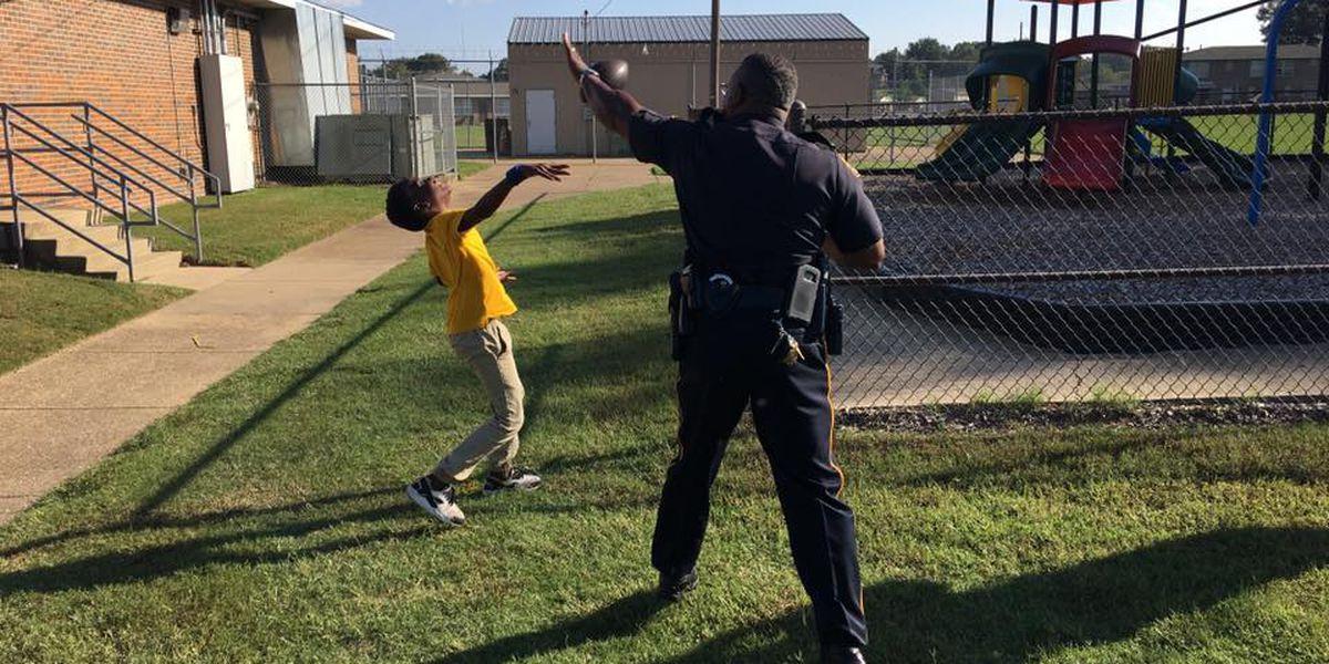 Montgomery residents, officers enjoy neighborhood cookout