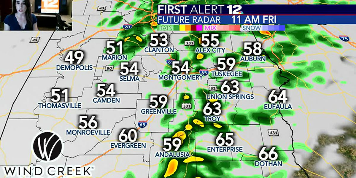 Tracking showers Friday; sunshine returns Saturday