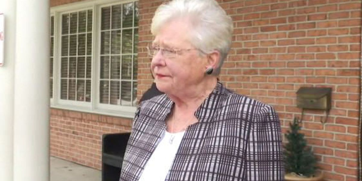 Gov. Ivey's first day in office marked by meetings, firing, bill signing, and lunch