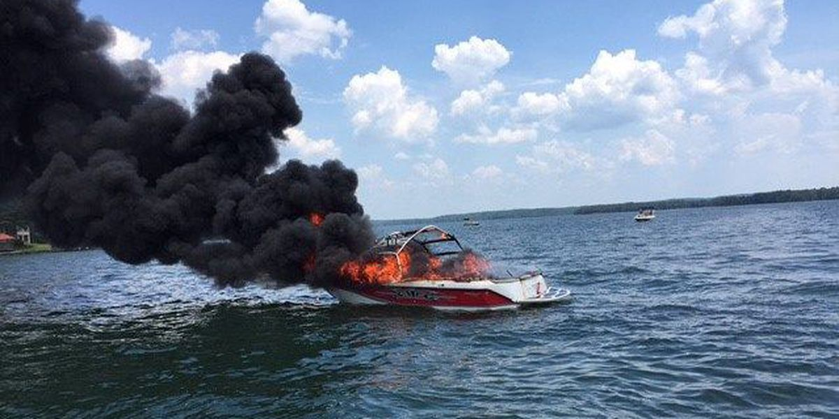 No injuries reported after boat catches fire on Lake Martin