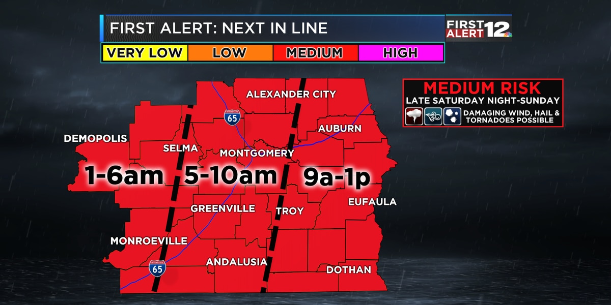 First Alert: Severe weather possible Saturday night into Sunday