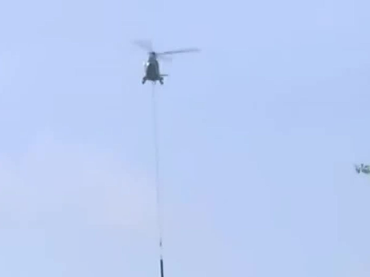 Helicopter removes old antenna from WSFA 12 News' 'Tall Tower'