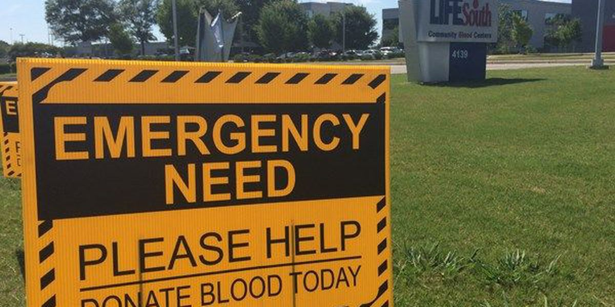 LifeSouth declares emergency need for blood donations