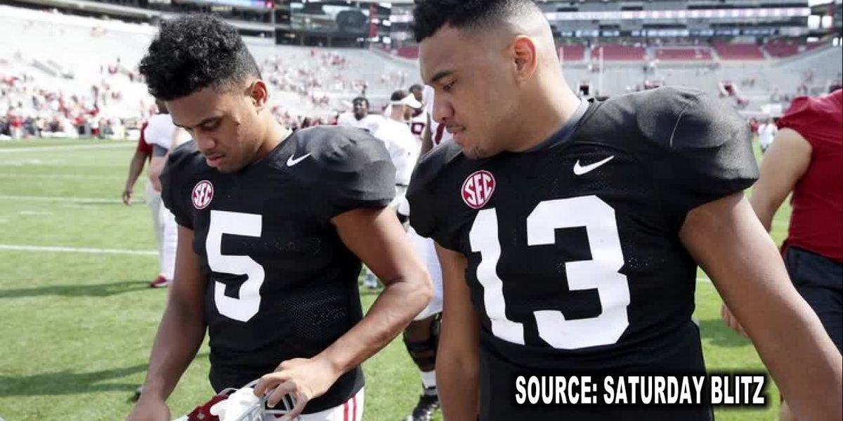 Tua gets help from younger brother Taulia at Alabama