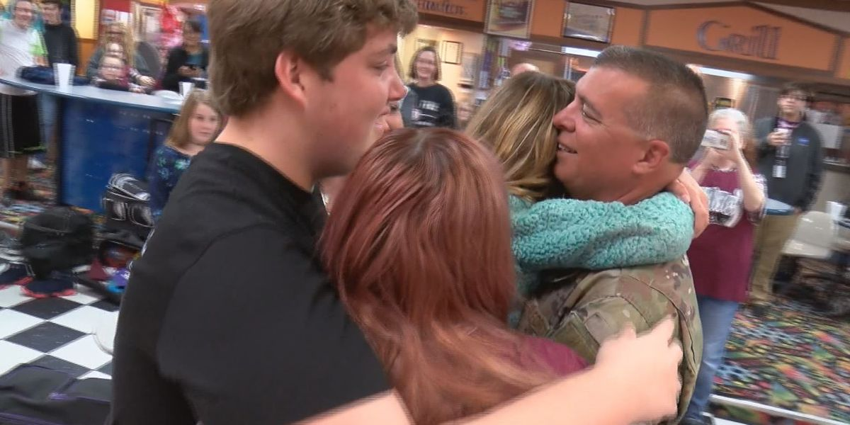 Air Force dad surprises family after 6-month deployment