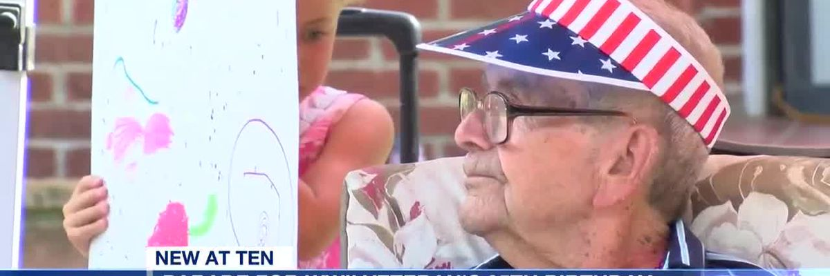 Parade held for WWII veteran's 95th birthday
