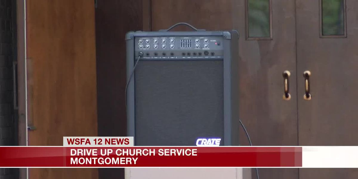 Montgomery church holds drive-up service