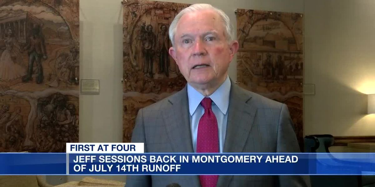 Jeff Sessions in Montgomery ahead of July 14 runoff election