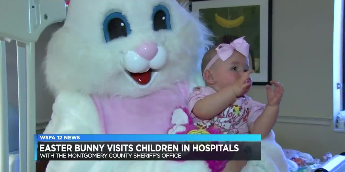 Easter Bunny, Montgomery Sheriff visit children at local hospitals