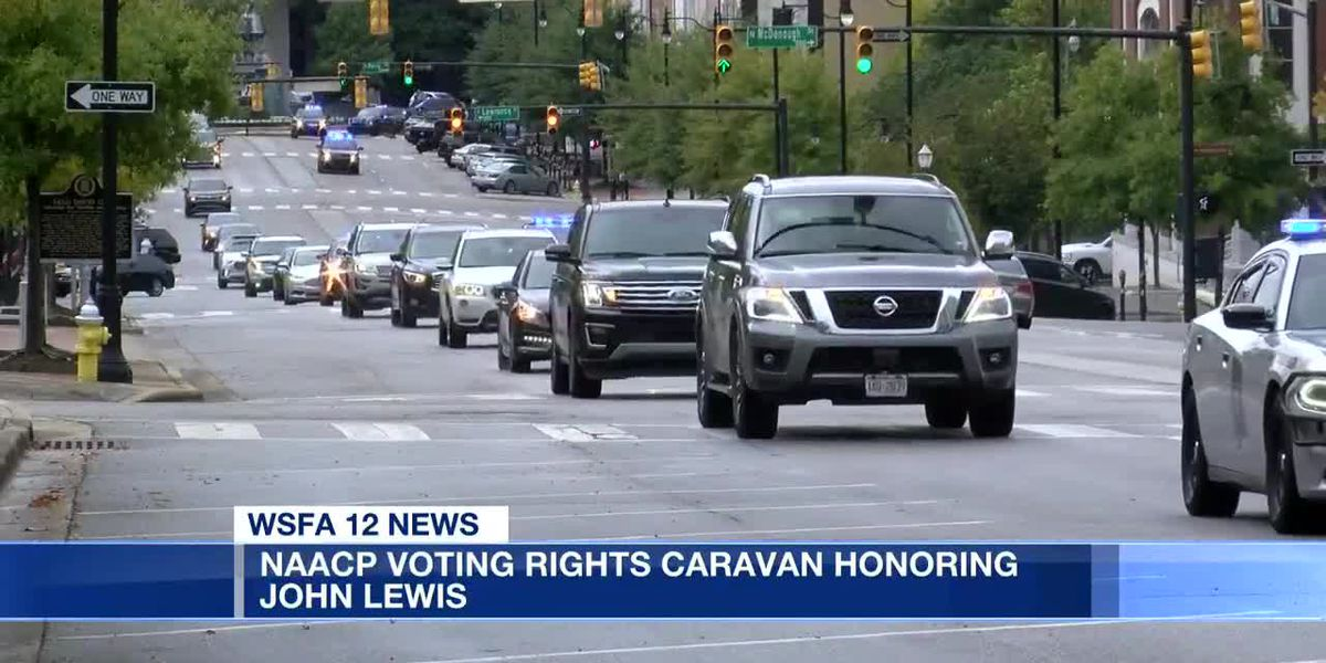 NAACP holds voting rights caravan in honor of Late Rep. John Lewis