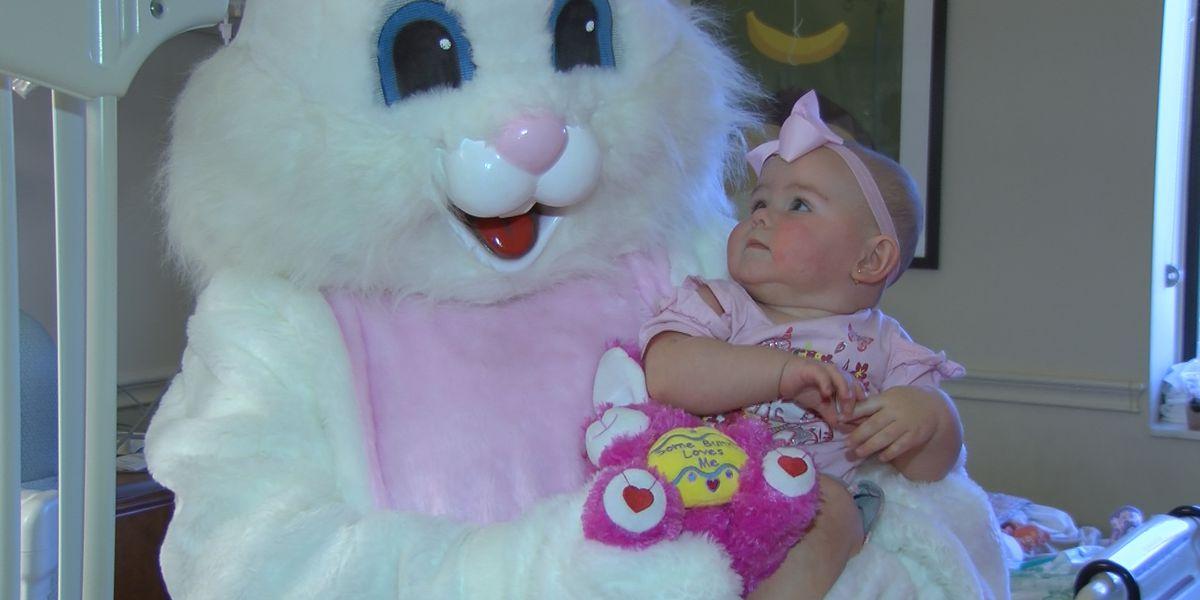 Easter Bunny visits sick children in Montgomery hospitals