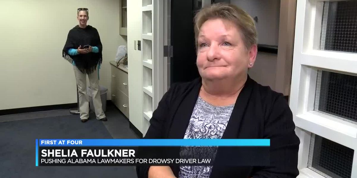 Woman hopes to get 'drowsy driving law' on AL books