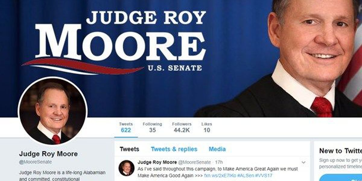 Moore campaign blames Democrats for weekend surge in Twitter followers