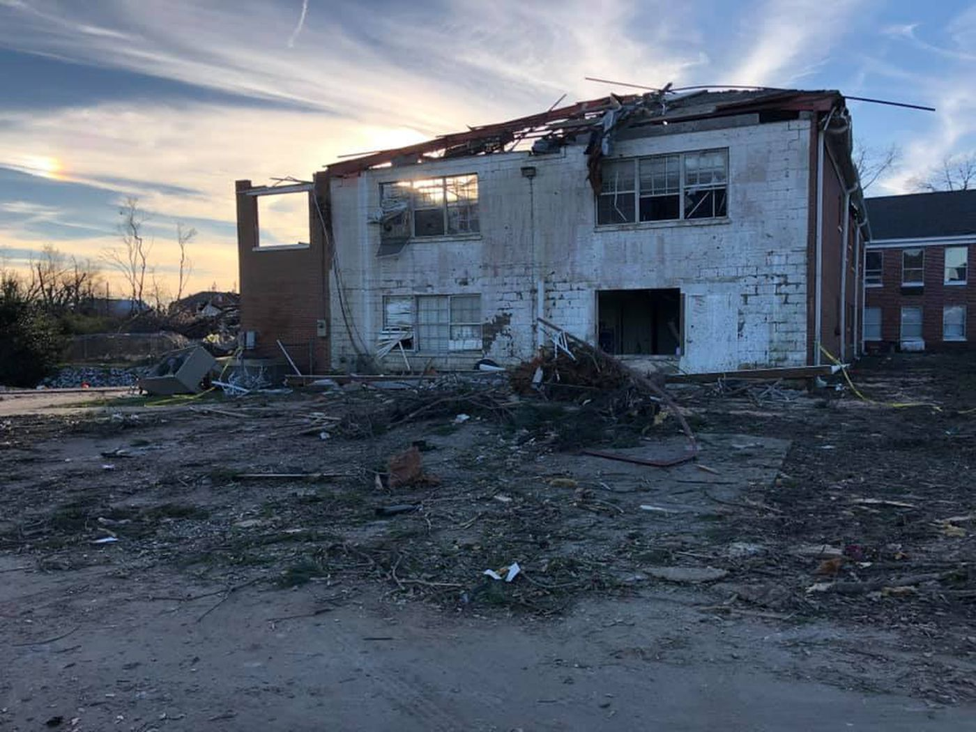 The building, along with most of the department's electronic devices, was destroyed. For the foreseeable future, the department will operate out of city hall.
