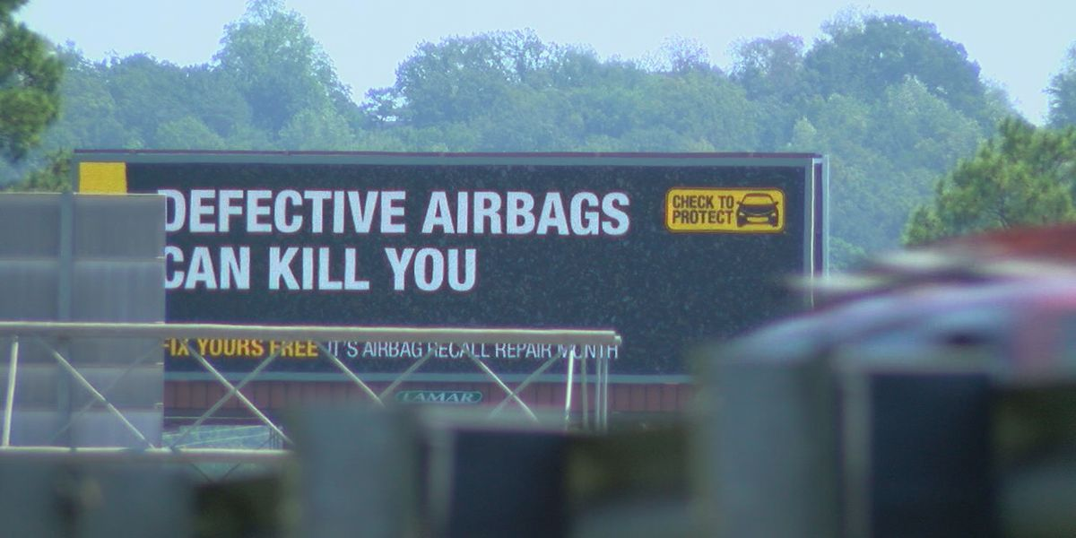 Thousands of airbags under recall in Alabama
