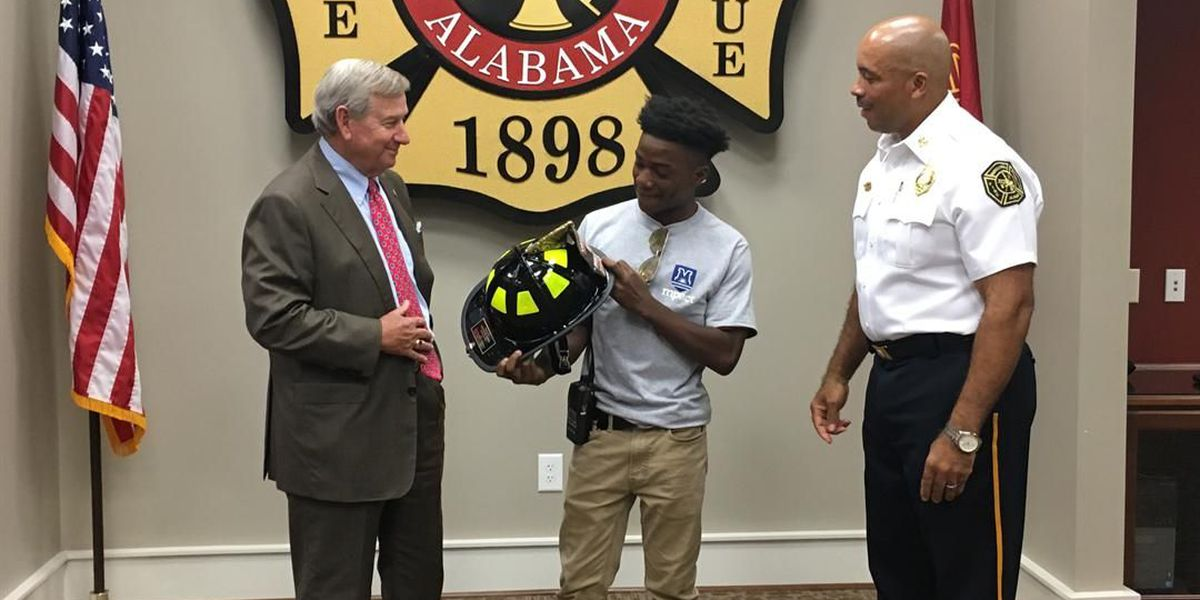 As promised, Montgomery student spends day with fire chief