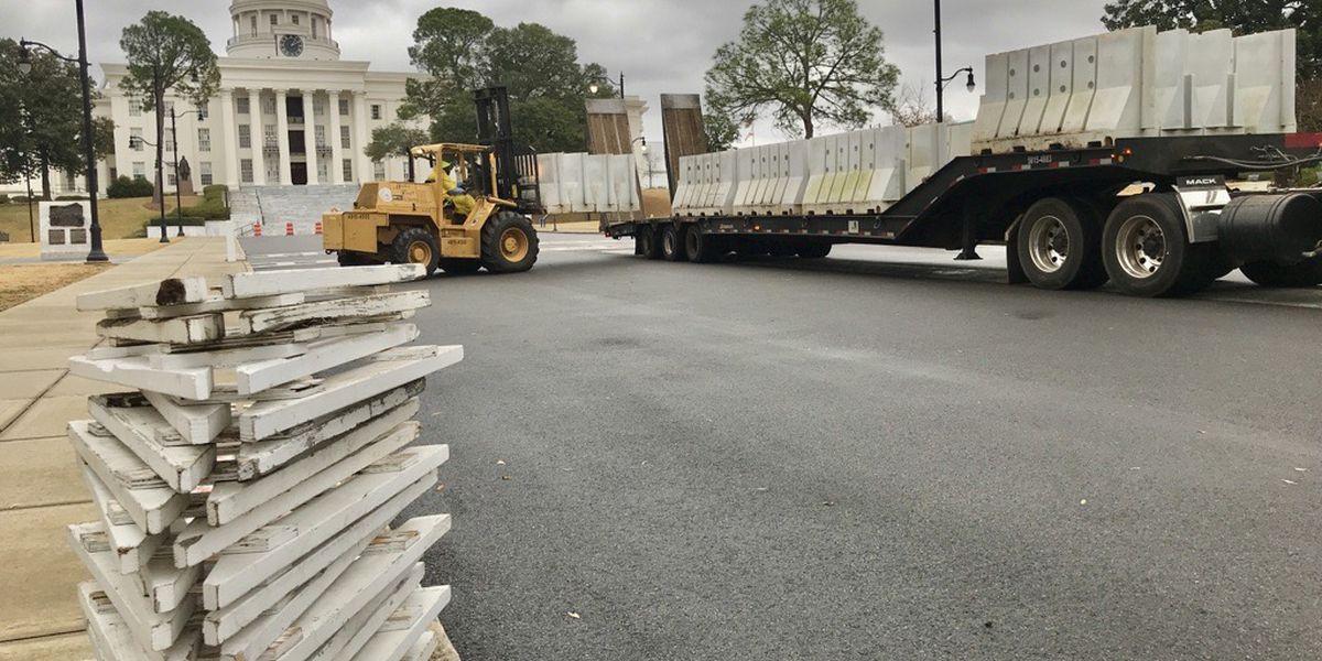 Barricades at Alabama Capitol taken down
