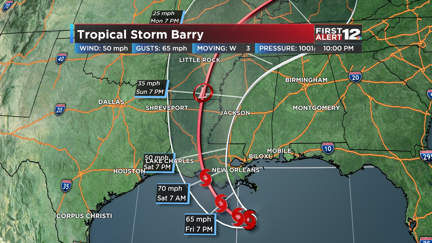 Tracking Tropical Storm Barry