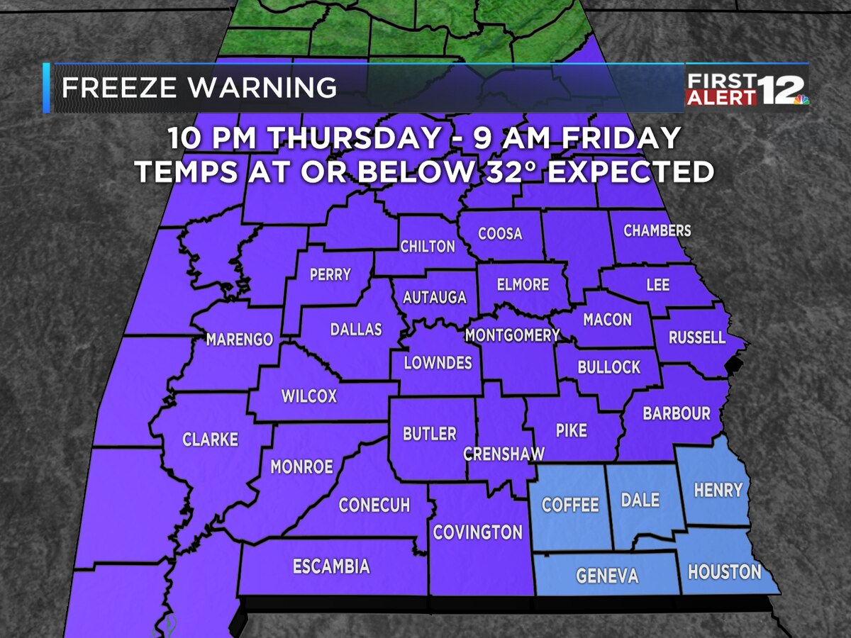 First Alert: Another freezing night