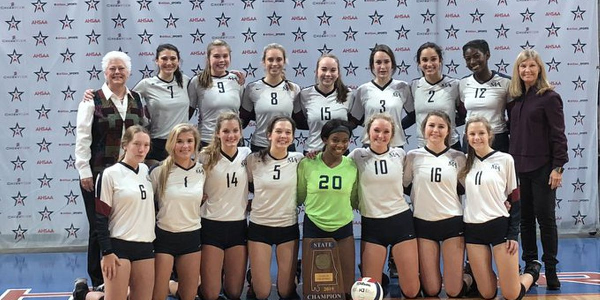 Montgomery Academy goes back-to-back for 3A volleyball crown