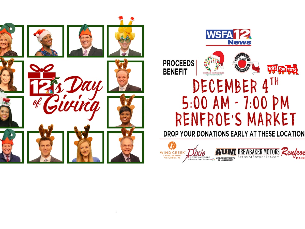 More than $36,000 donated already at 12′s Days of Giving