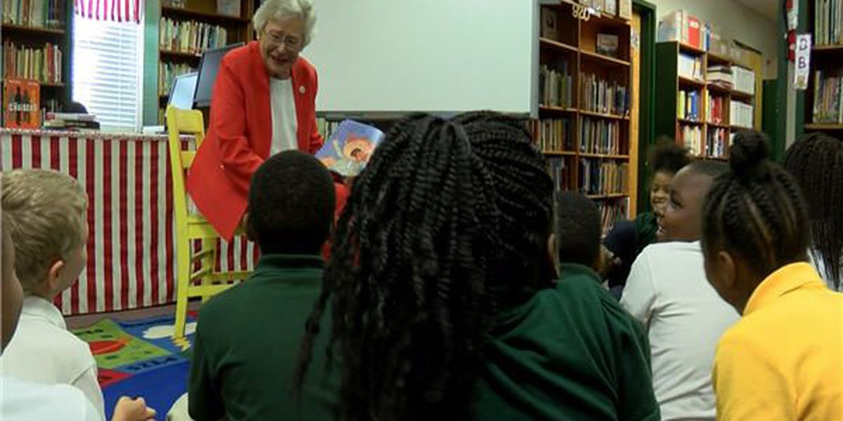 Montgomery elementary school receives scholastic donation from Gov. Ivey