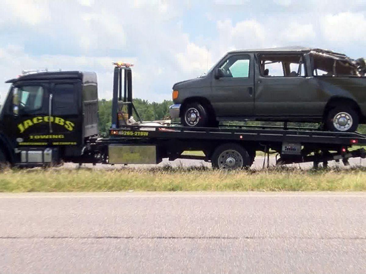 All but 1 wrestler in van crash released from hospitals