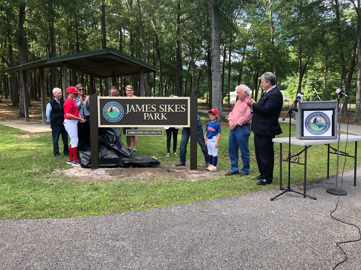 Pine Level Park renamed in honor of man who has poured time, money into its success