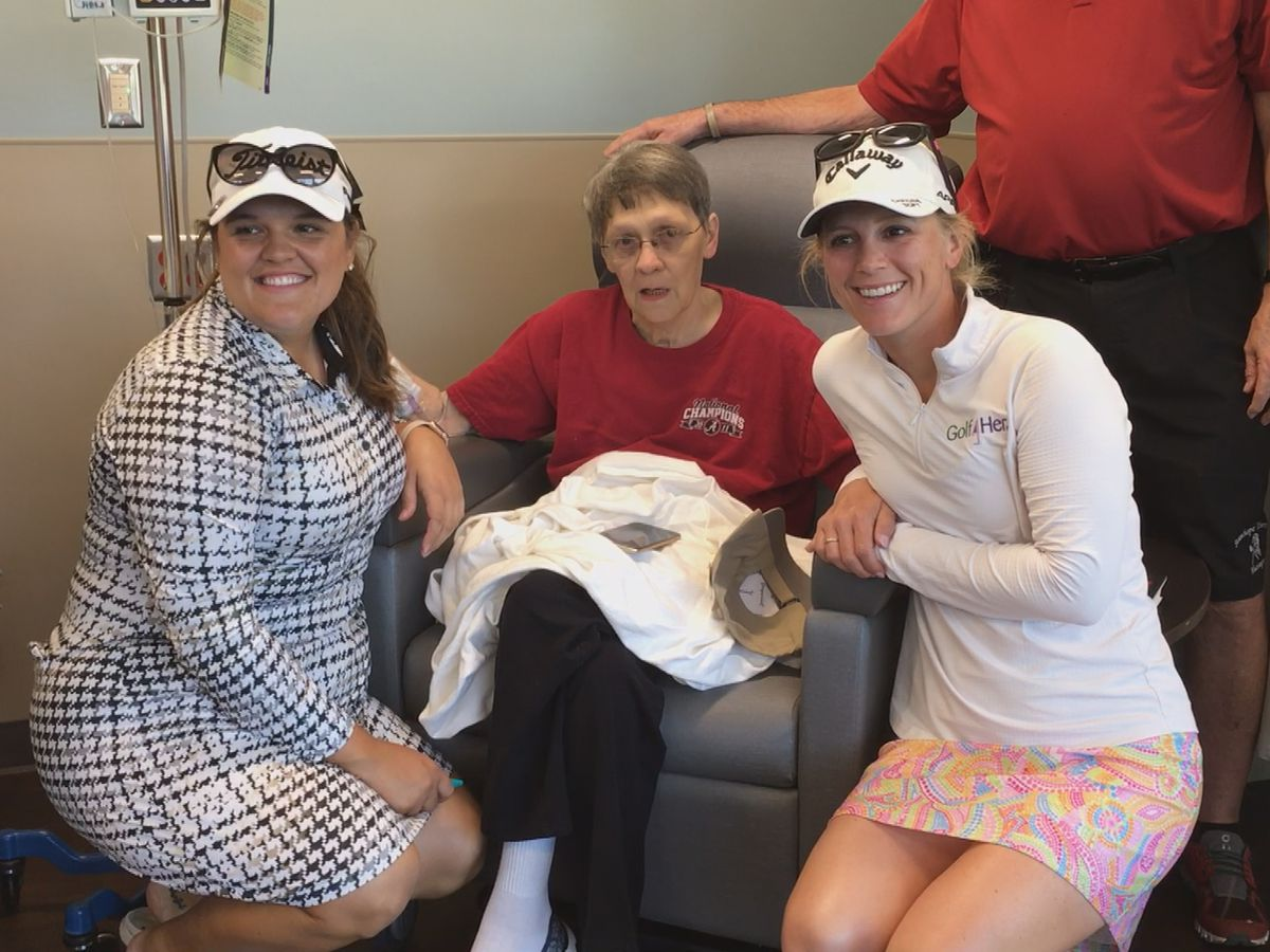 Symetra Tour golf pros visit cancer patients