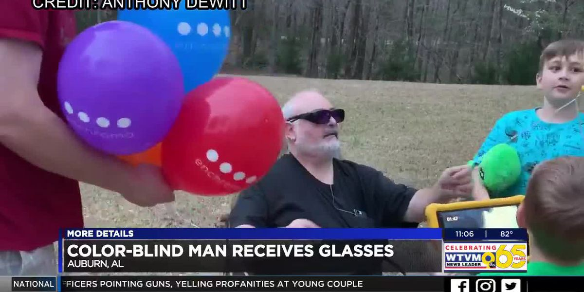 Colorblind Auburn man sees a whole new world on Father's Day