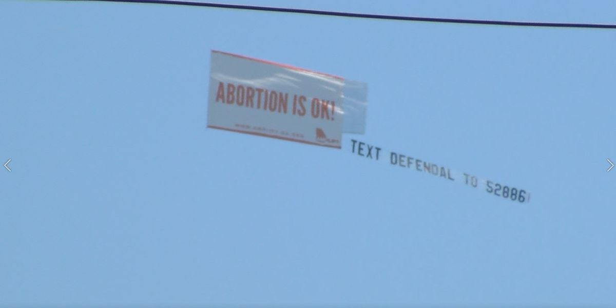 Pro-abortion rights banner flies after near-total ban passes Ala. Senate
