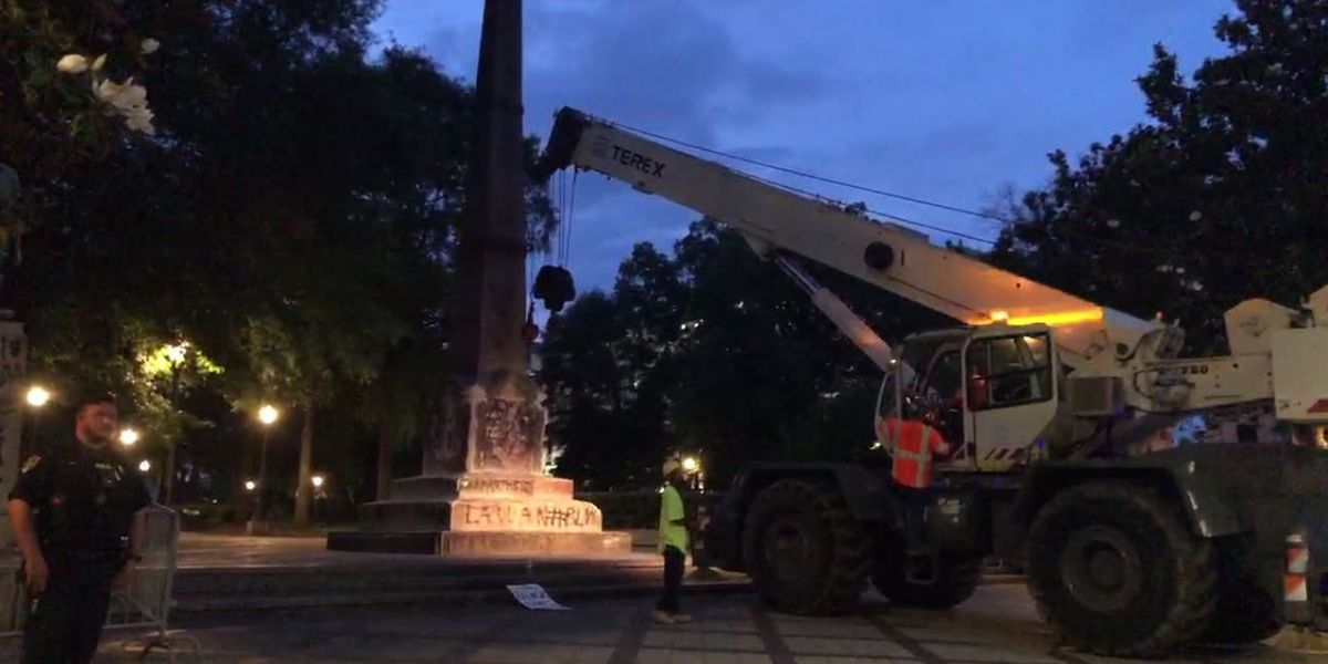 UPDATE: Confederate monument in Birmingham's Linn Park completely removed