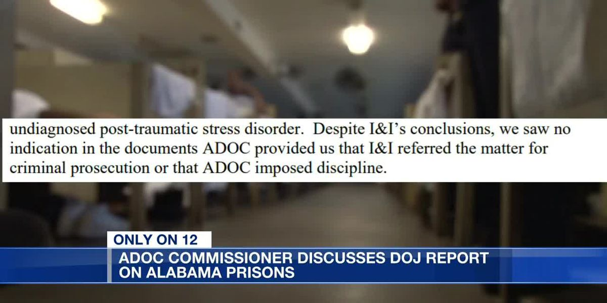 ADOC commissioner discusses DOJ report on Alabama prisons