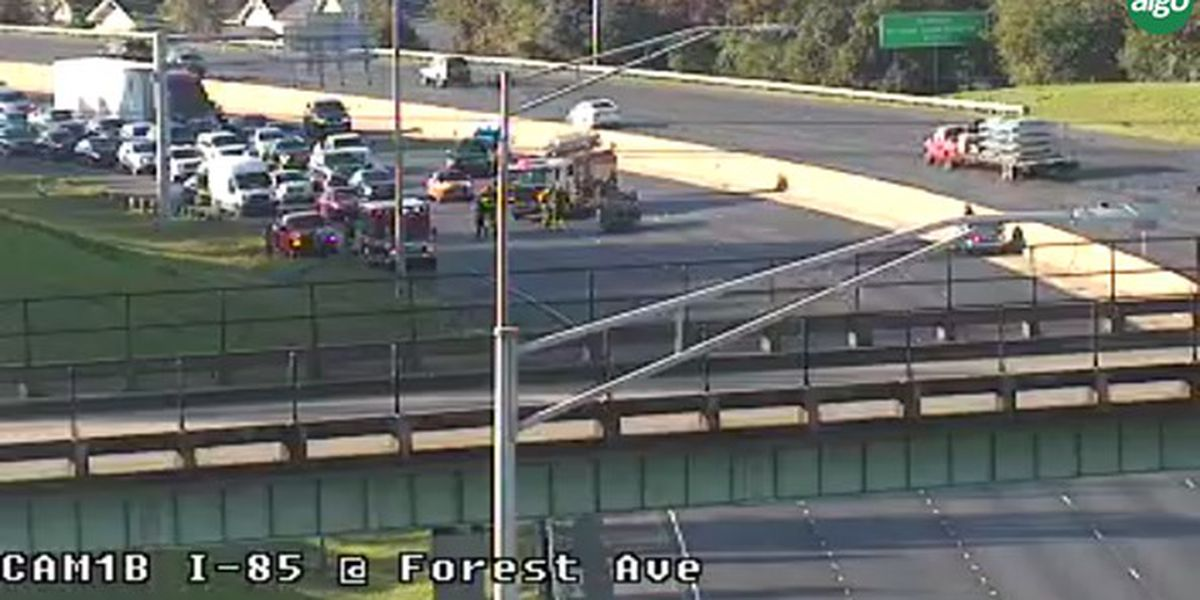 Traffic clear on I-85 NB near Forest Ave. exit after overturned vehicle cleared