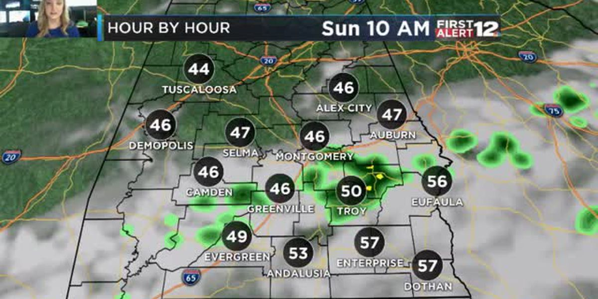 First Alert: Showers linger Sunday morning